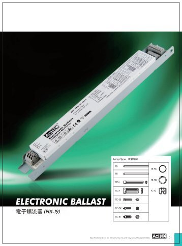 ELECTRONIC BALLAST - Electricalservices-co.com
