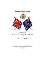 The 7th Royal Fusiliers in America - The Fusilier Museum London