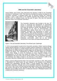DNA and the Cavendish Laboratory - University of Cambridge