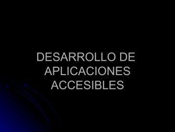 DESARROLLO DE APLICACIONES ACCESIBLES PARA WINDOWS