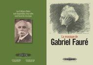 La musique de Gabriel Fauré - Edition Peters