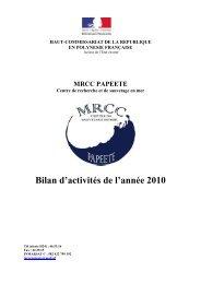 MRCC Papeete - Ministère du Développement durable