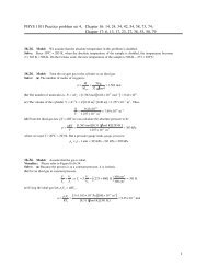 1 PHYS 1101 Practice problem set 4, Chapter 16: 14, 24, 34, 42, 54 ...