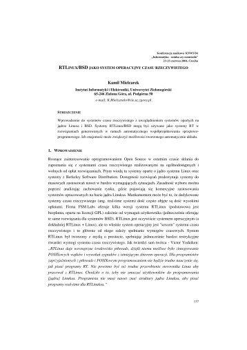 Kamil Mielcarek - Informatyka - Sztuka czy Rzemiosło - Uniwersytet ...