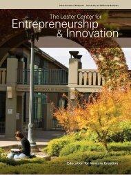 Entrepreneurship & Innovation - Lester Center for Entrepreneurship ...