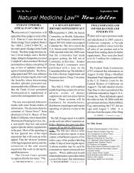 Natural Medicine Law - Dietary Supplement Regulation, Herbal ...