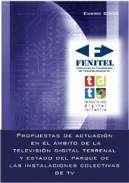 PROPUESTAS DE ACTUACIÓN EN EL ÁMBITO DE LA ... - Fenitel