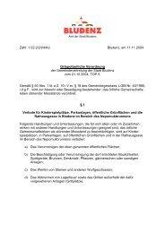 Zahl: 1.02-2/2/04/Ko. Bludenz, am 11.11.2004 Ortspolizeiliche ...