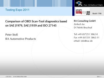 Comparison of OBD Scan-Tool diagnostics based on SAE ... - ASAM