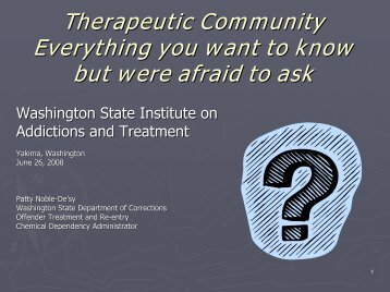 Therapeutic Community Everything you want to know but ... - CASAT