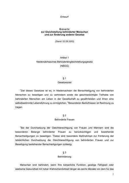 Artikel 9 - Behindertenbeauftragter des Landes Niedersachsen ...