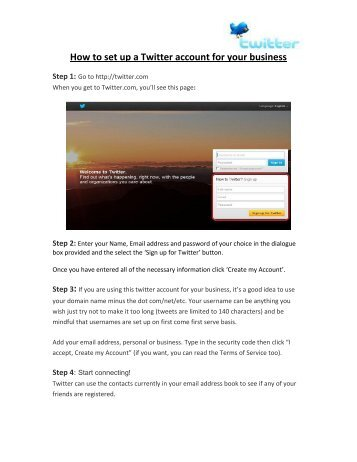 How to set up a Twitter account for your business - Visit Dorset