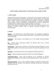 Eesti turbaalade kaitse ja säästliku kasutamise alused