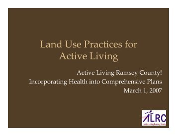 Land Use Recommendations for Ramsey County