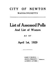 Assessed Polls 1929 - Newton Free Library