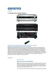 7.1-Channel Home Theater Receiver Will this make ... - Supersonido