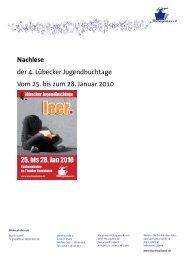 Nachlese der 4. Lübecker Jugendbuchtage 2010
