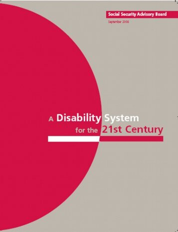 A Disability System for the 21st Century - Social Security Advisory ...