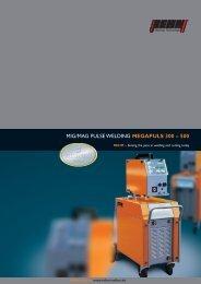 MIG/MAG PULSE WELDING MEGAPULS 300 – 500 - Rehm