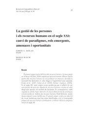 La gestió de les persones i els recursos humans en el segle xxI - accid