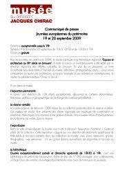 Communiqué de presse JDP 2009 - musée du président Jacques ...