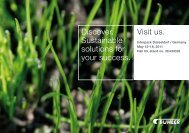 Discover. Sustainable solutions for your success. Visit us.