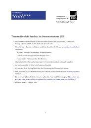 Themenübersicht Seminar im Sommersemester 2009 - Lehrstuhl für ...