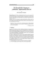 """Ein dynamischer Zugang zu """"einfachen"""" algebraischen Kurven"""