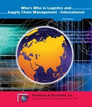 Who's Who in Logistics and Supply Chain Management