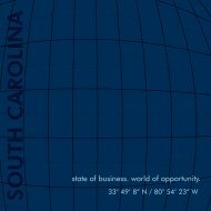 State of Business. World of Opportunity - South Carolina Department ...
