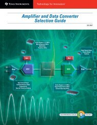 Amplifier and Data Converter Selection Guide (Rev. B
