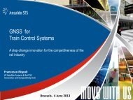 GNSS for Train Control Systems - European GNSS Agency
