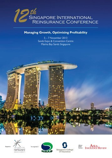 Brochure - 12th Singapore International Reinsurance Conference