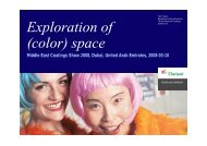 Exploration of (color) space