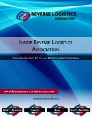 RLA History and Facts - Reverse Logistics Association