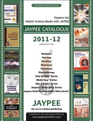 Price list cover 2011-12 - Jaypee Brothers Medical Publishers