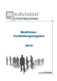 MV Veranstaltungen - Seminare, Schulungen ... - MedVision AG