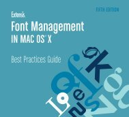 Extensis Font Management in Mac OS X Best Practices Guide