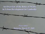 The Roles of NGOs in Urban Development: Lesson Learned, Challenges ...