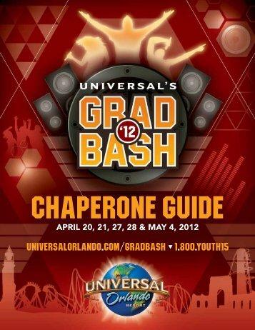 Chaperone guide - Universal Studios Orlando