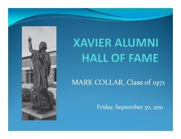 MARK COLLAR, Class of 1971 - Xavier High School