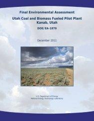 Final Environmental Assessment Utah Coal and Biomass Fueled ...