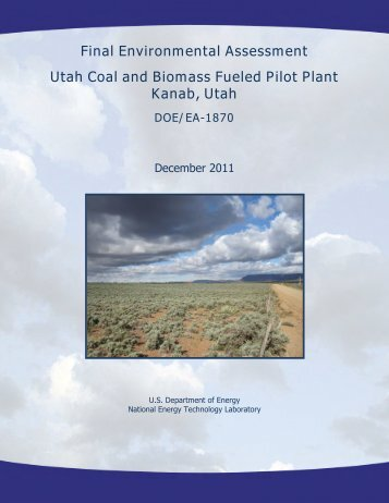 Final Environmental Assessment Utah Coal and Biomass Fueled ...