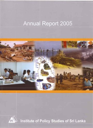 Annual Report 2005 - Institute of Policy Studies of Sri Lanka