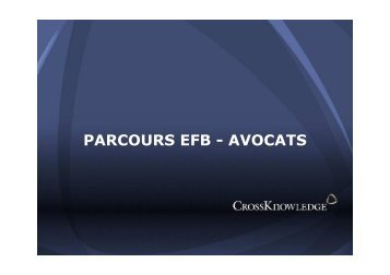 PARCOURS EFB - AVOCATS - crossknowledge