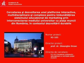 Cercetarea si dezvoltarea unei platforme interactive ... - Prezentare