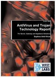 Sophos AntiVirus (pdf, 294k) - West Coast Labs