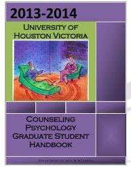UHV Counseling Psychology Program Handbook - University of ...