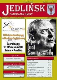 www.jedlinsk.pl Nr 16/Czerwiec/2008 - Jedlińsk, Urząd Gminy
