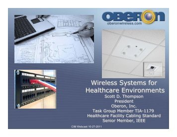Wireless Systems for Healthcare Environments ... - Oberon Inc.